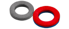 Ferrit magnets - annular rings - magnetized axially parallel to an appropriate axis