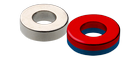 Ndfeb magnets - annular rings - magnetized axially parallel to an appropriate axis